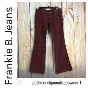 💸Frankie B red corduroy flare leg pant size 8